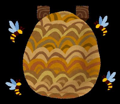スズメバチの巣イラスト